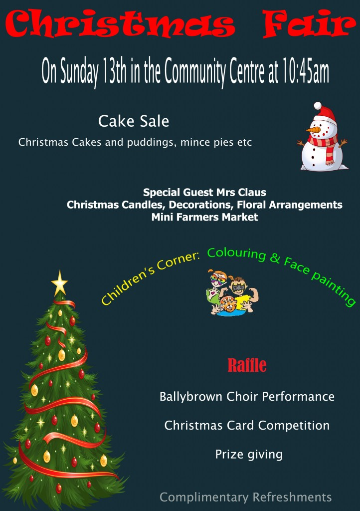 Christmas Fair Flyer 2015