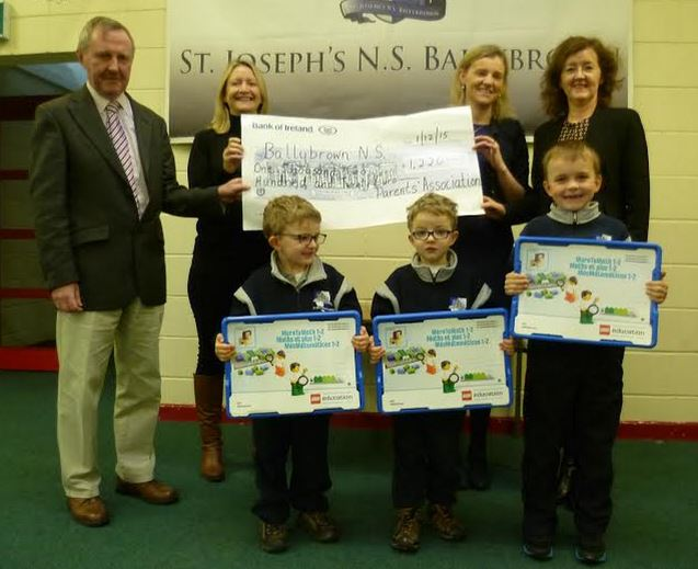 Parents Association present a cheque to Ballybrown School